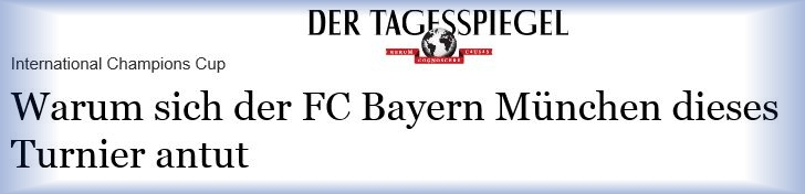 Download Artikel Tagesspiegel - International Champions Cup - Juli 2016